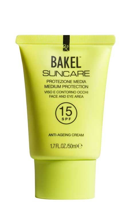 Parenti Profumeria | BAKEL Beauty and key elements Suncare SPF15, SPF30 e SPF 50+ protezioni solari viso
